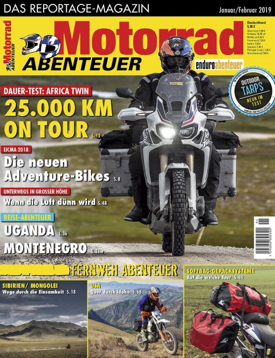 MotorradABENTEUER Januar/Februar 2019 gedruckte Ausgabe