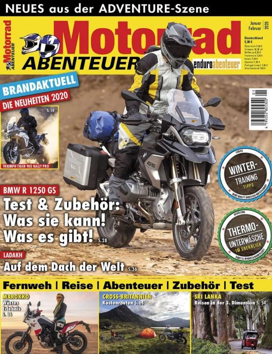 MotorradABENTEUER Januar/Februar 2020 gedruckte Ausgabe