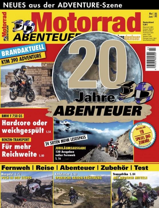 MotorradABENTEUER Mai/Juni 2020 gedruckte Ausgabe