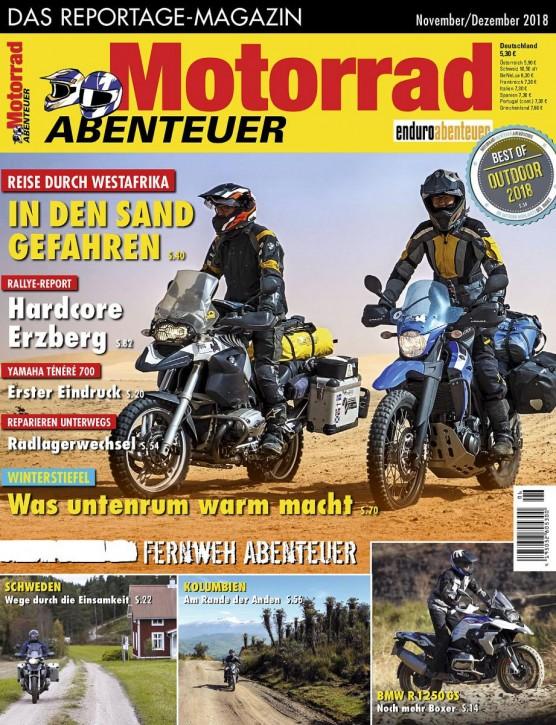 MotorradABENTEUER November/Dezember 2018 gedruckte Ausgabe