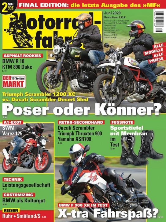 MOTORRADFAHRER Juni 2020 gedruckte Ausgabe