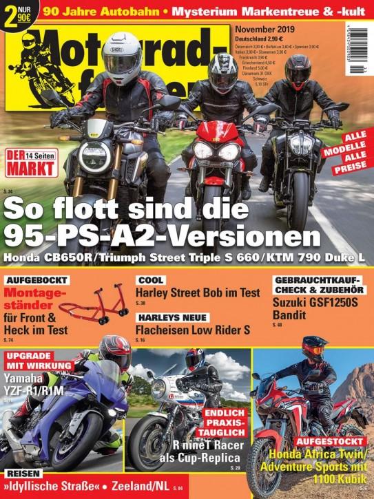 MOTORRADFAHRER November 2019 gedruckte Ausgabe