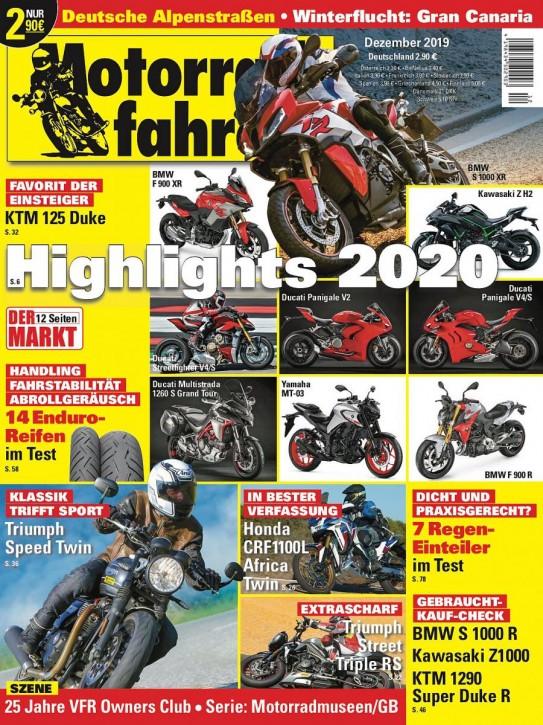 MOTORRADFAHRER Dezember 2019 gedruckte Ausgabe
