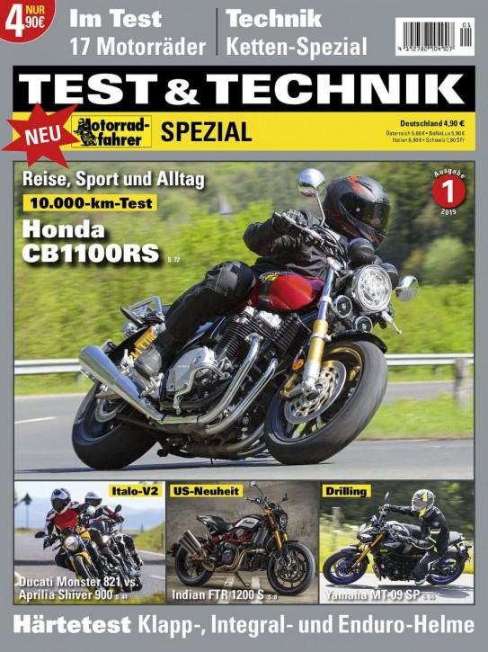 Motorrad-Spezial TEST und TECHNIK 2019