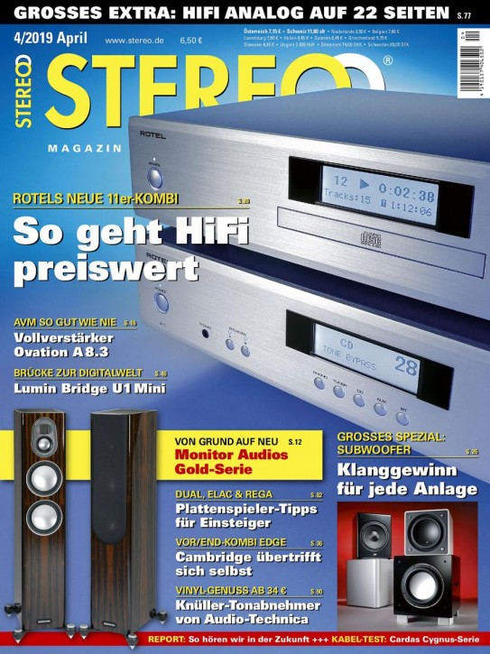 STEREO April 2019 gedruckte Ausgabe