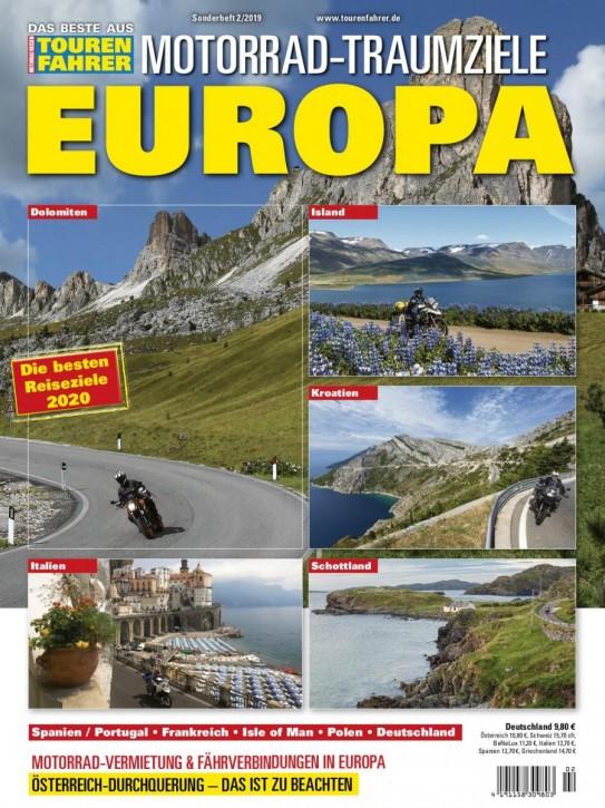 MOTORRAD-TRAUMZIELE EUROPA gedruckte Ausgabe