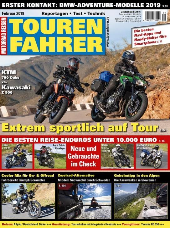 TOURENFAHRER Februar 2019 gedruckte Ausgabe