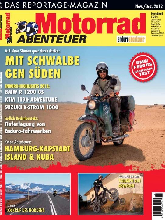 MotorradABENTEUER November/Dezember 2012