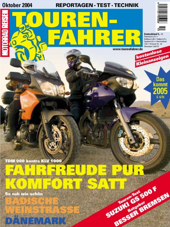 TOURENFAHRER Oktober 2004