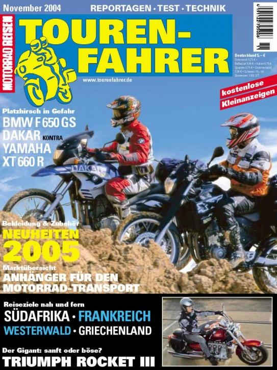 TOURENFAHRER November 2004
