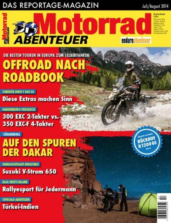 MotorradABENTEUER Juli/August 2014