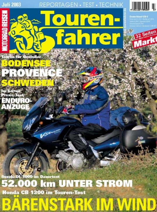 TOURENFAHRER Juli 2003