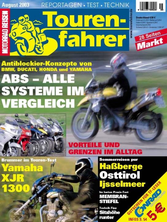 TOURENFAHRER August 2003