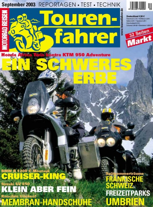 TOURENFAHRER September 2003