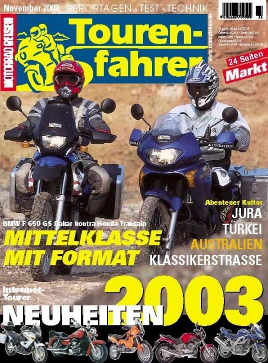 TOURENFAHRER November 2002