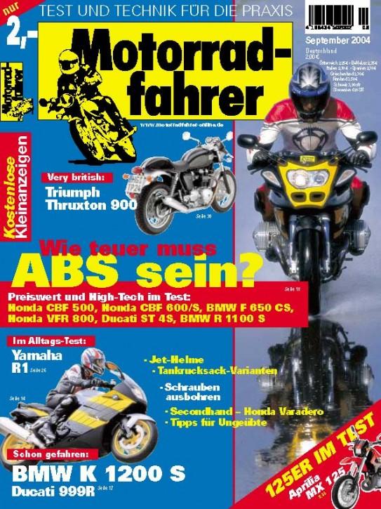 MOTORRADFAHRER September 2004