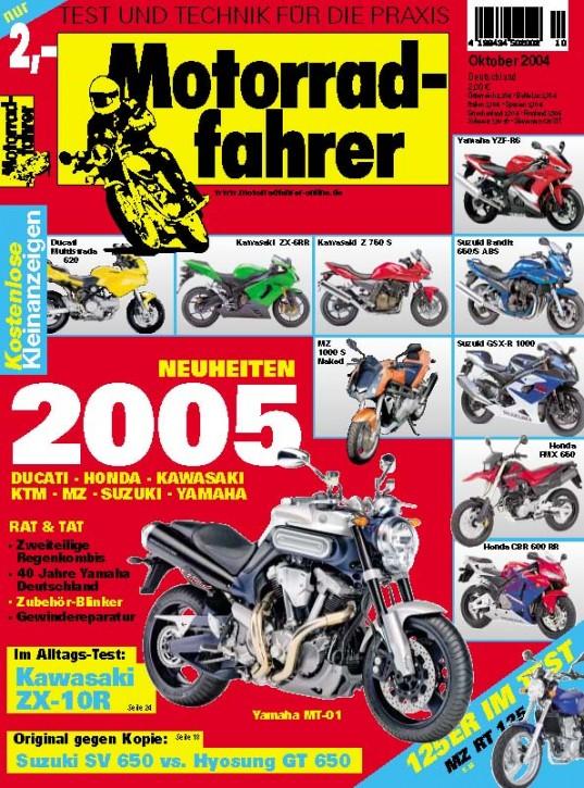 MOTORRADFAHRER Oktober 2004