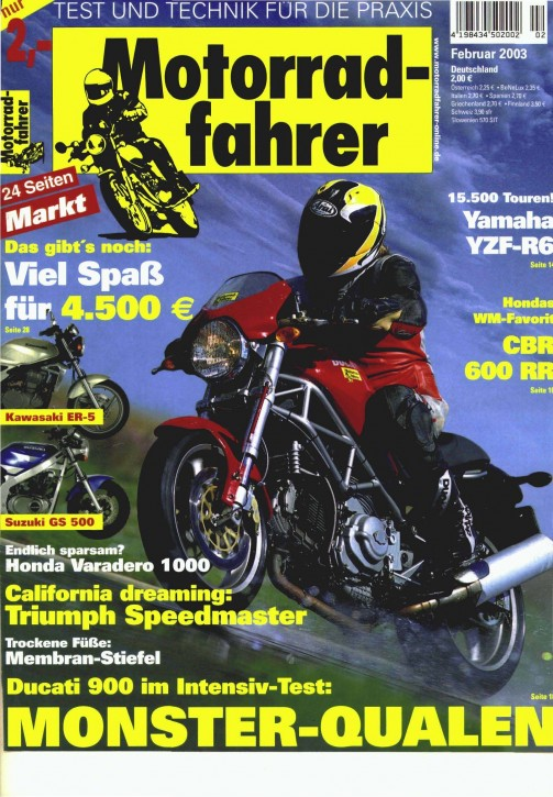 MOTORRADFAHRER Februar 2003