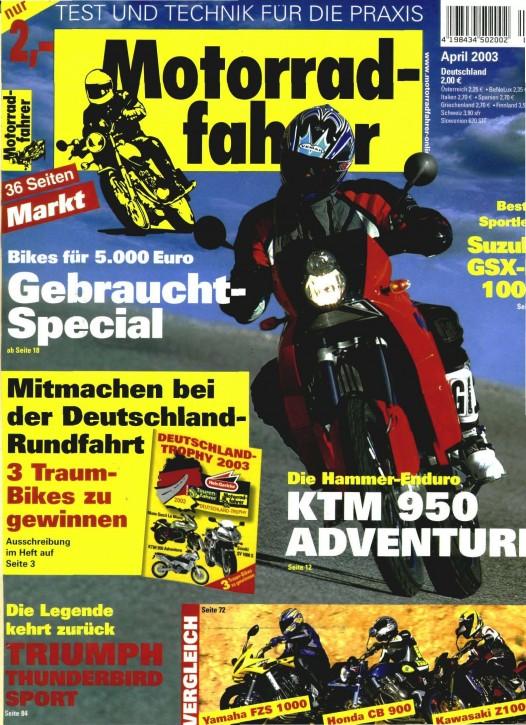 MOTORRADFAHRER April 2003
