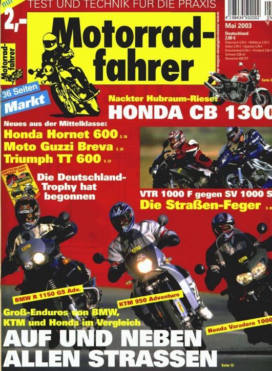 MOTORRADFAHRER Mai 2003