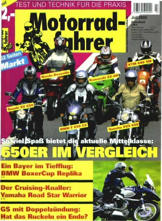 MOTORRADFAHRER Juli 2003