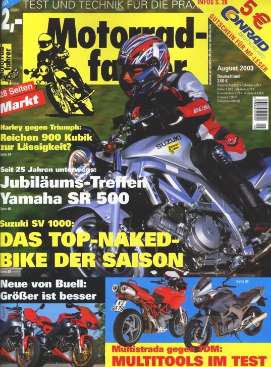 MOTORRADFAHRER August 2003