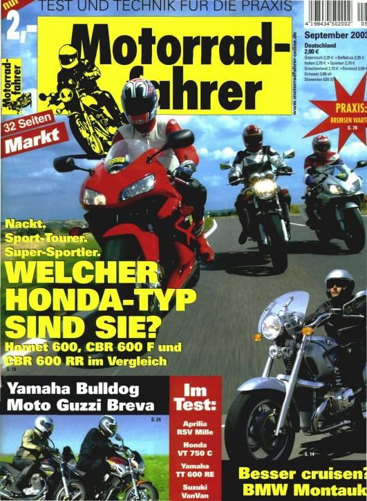 MOTORRADFAHRER September 2003