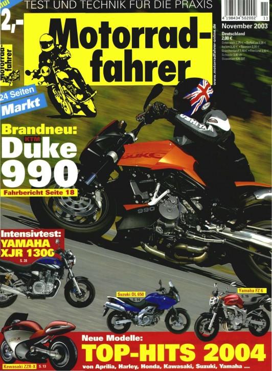 MOTORRADFAHRER November 2003