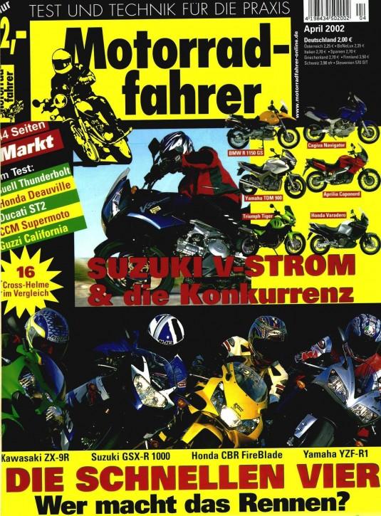 MOTORRADFAHRER April 2002