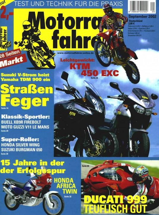 MOTORRADFAHRER September 2002