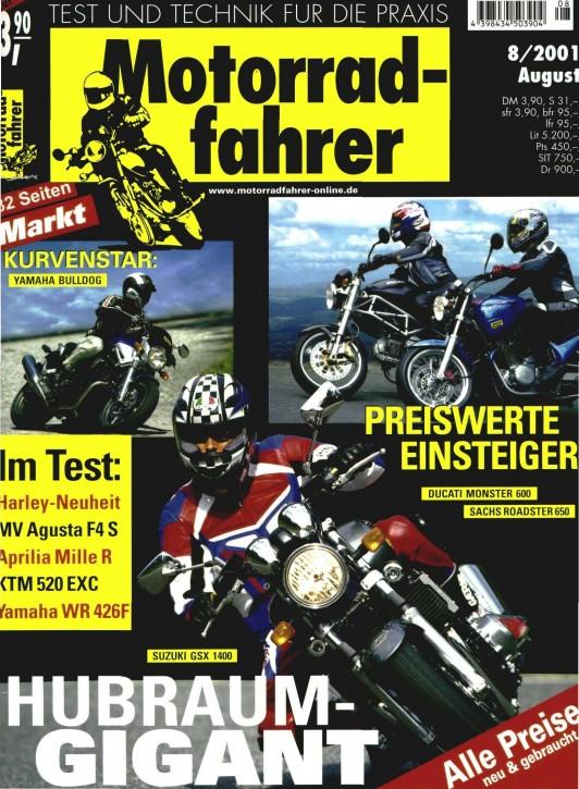 MOTORRADFAHRER August 2001