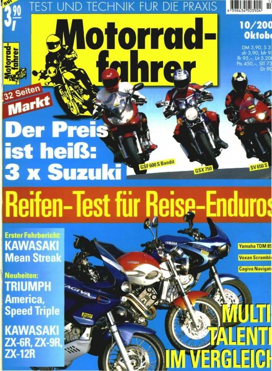 MOTORRADFAHRER Oktober 2001