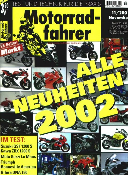 MOTORRADFAHRER November 2001