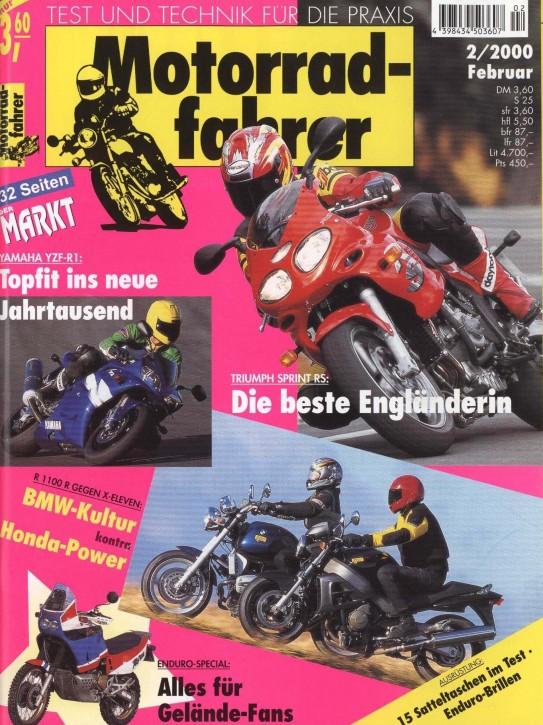 MOTORRADFAHRER Februar 2000