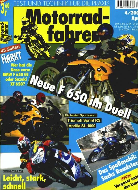 MOTORRADFAHRER April 2000