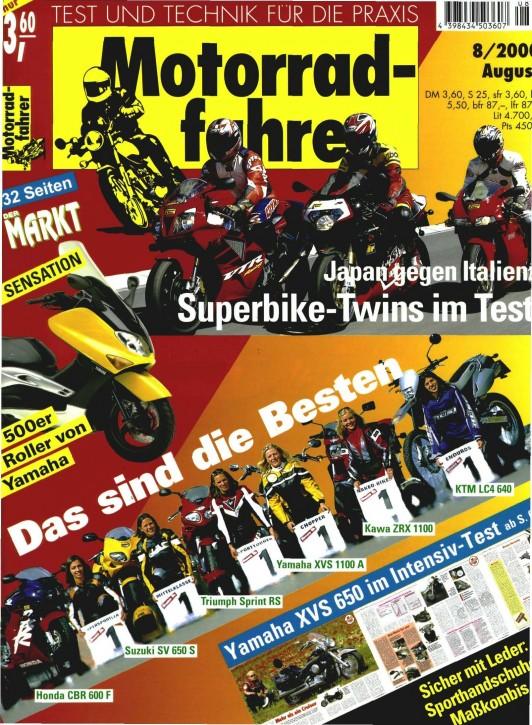 MOTORRADFAHRER August 2000