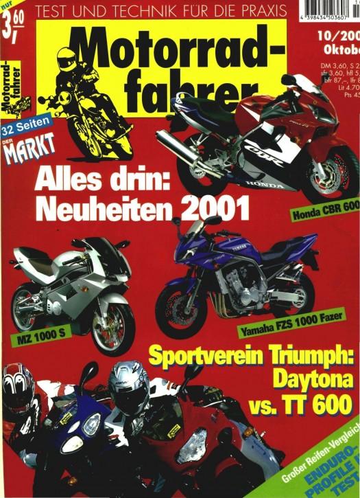 MOTORRADFAHRER Oktober 2000