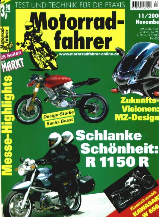 MOTORRADFAHRER November 2000