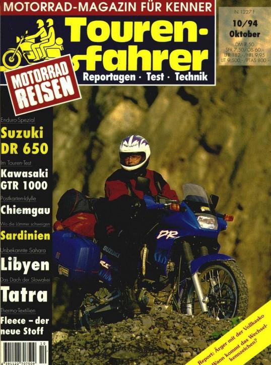 TOURENFAHRER Oktober 1994