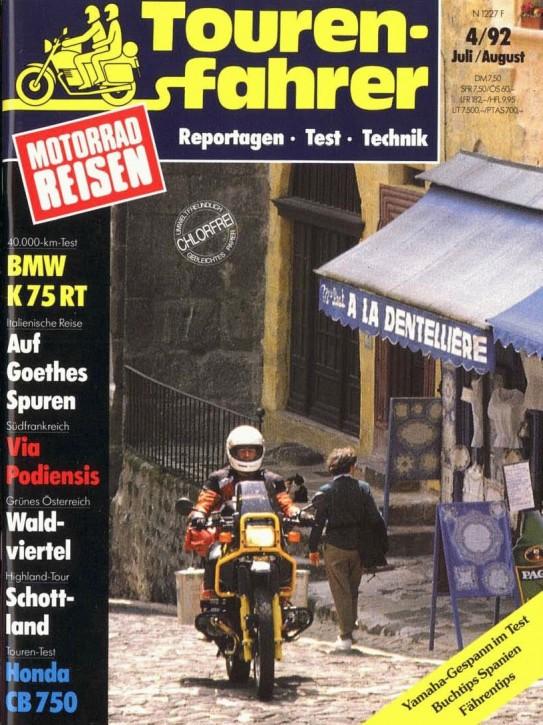 TOURENFAHRER Juli/August 1992