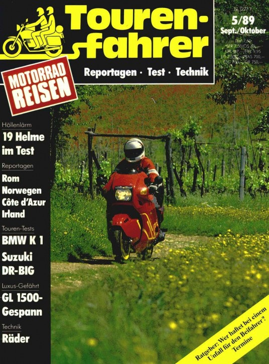 TOURENFAHRER September/Oktober 1989