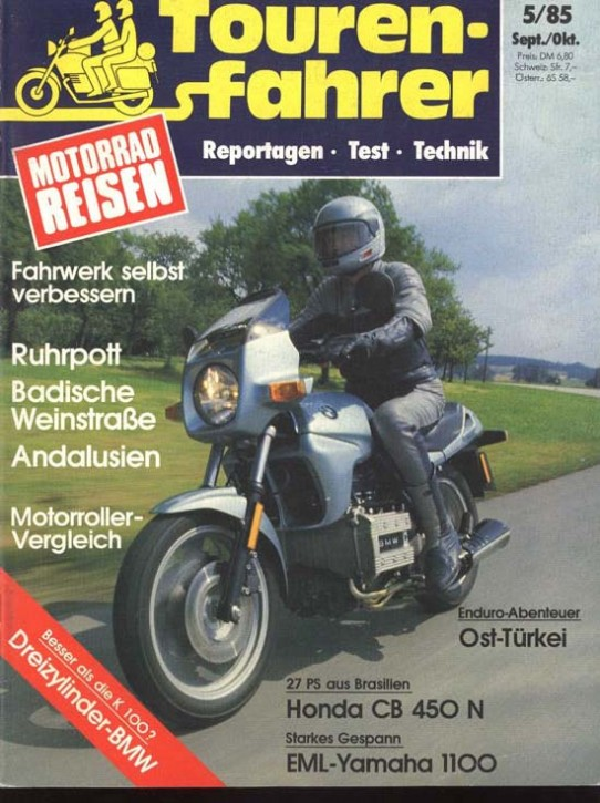 TOURENFAHRER September/Oktober 1985