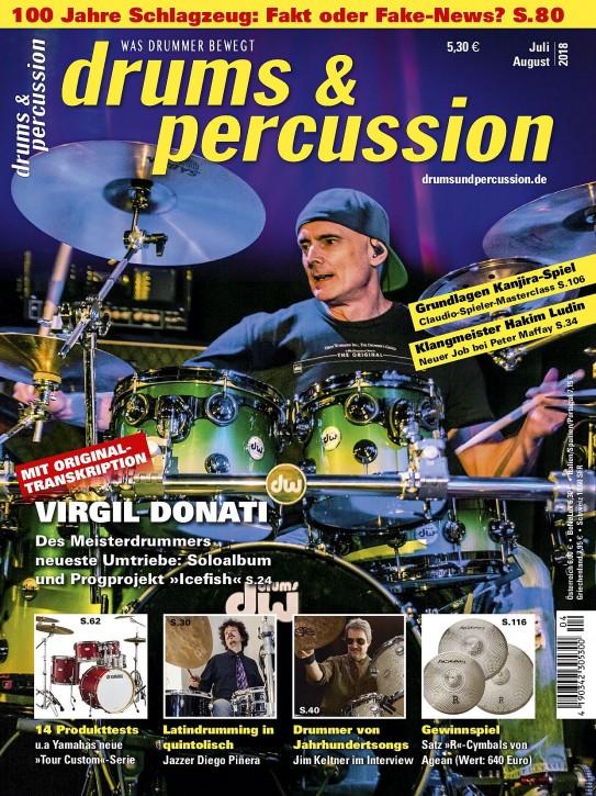 drums&percussion Juli/August 2018 gedruckte Ausgabe