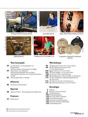 drums&percussion Januar/Februar 2019 gedruckte Ausgabe