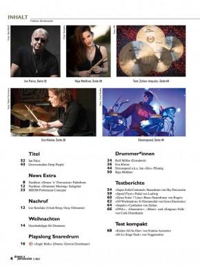 drums&percussion Januar/Februar 2021 gedruckte Ausgabe