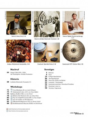 drums&percussion September/Oktober 2020 gedruckte Ausgabe