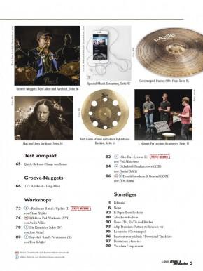 drums&percussion November/Dezember 2021 gedruckte Ausgabe