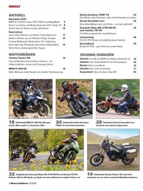 MOTORRADFAHRER November 2018 gedruckte Ausgabe