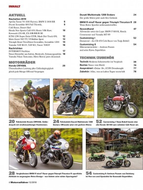 MOTORRADFAHRER Dezember 2018 gedruckte Ausgabe