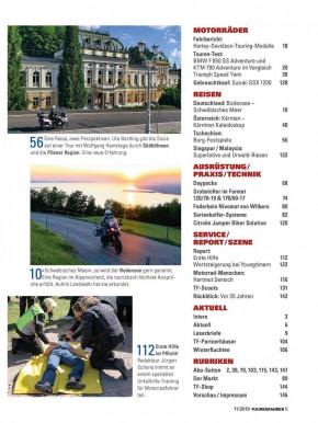 TOURENFAHRER November 2019 gedruckte Ausgabe